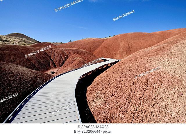 Pathway Through Desert