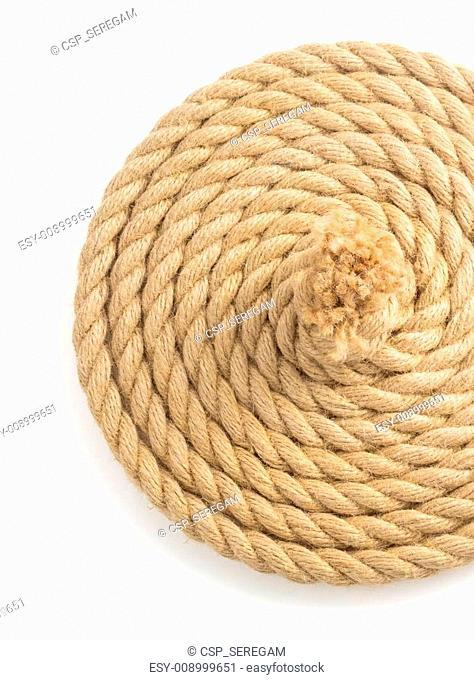 ship ropes on white