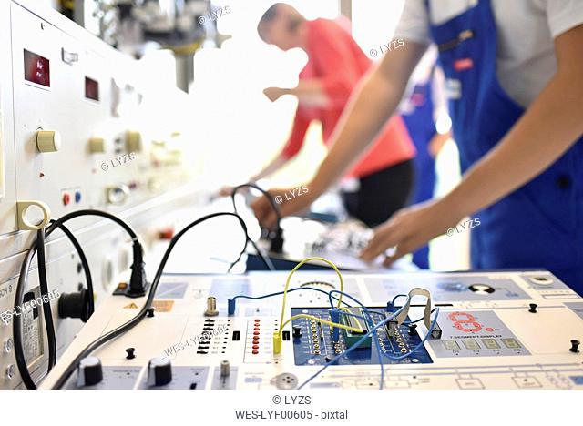 Switchboard in a vocational school
