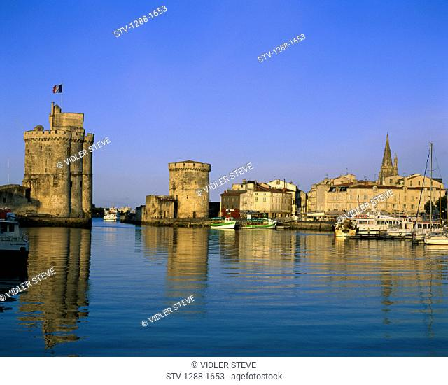 Boats, Castle, France, Europe, Harbor, Holiday, Landmark, Port, Rochelle, Tourism, Travel, Vacation