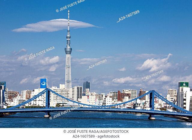 Japan-Tokyo City-Sumida River and Sky Tree Tower
