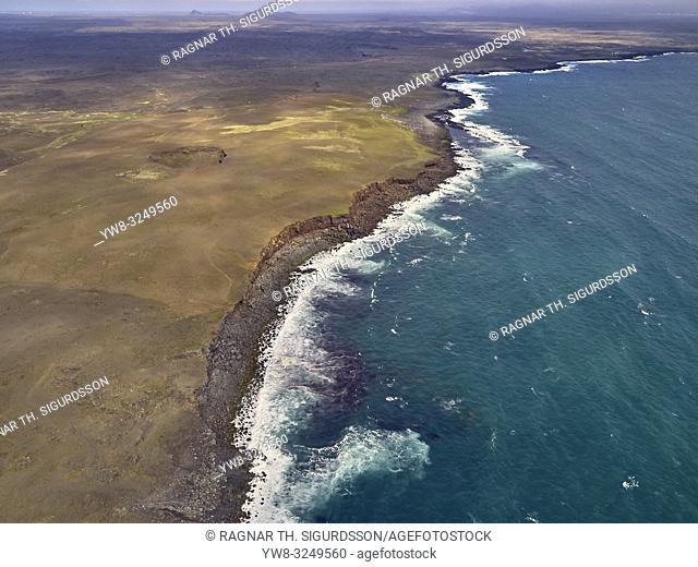 Coastline Reykjanes Peninsula, Iceland