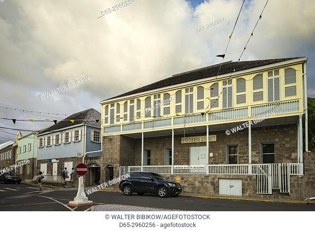 St. Kitts and Nevis, Nevis, Charlestown, town buidlings