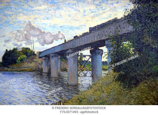 Le Pont d'Argenteuil, the Argenteuil bridge, 1874, Claude Monet (1840-1926), Musee d'Orsay, Orsay Museum, Paris, France, Europe
