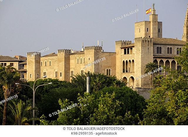 Palacio de L'Almudaina (s. XIII-XIV), Palma, Mallorca, Balearic islands, Spain