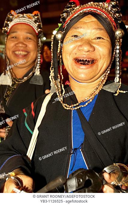 Akha Hill Tribe Women , Chiang Mai Night Market , Thailand