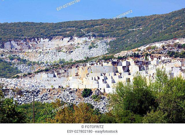 Greece, marble mining in Eastmacedonia