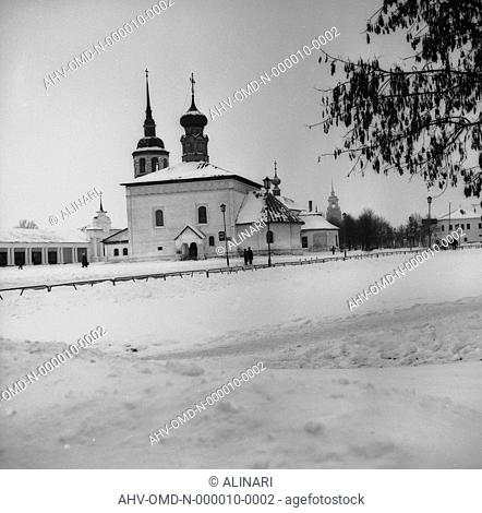 Church of Suzdal with snow, shot 12/1988 by Orioli Maria