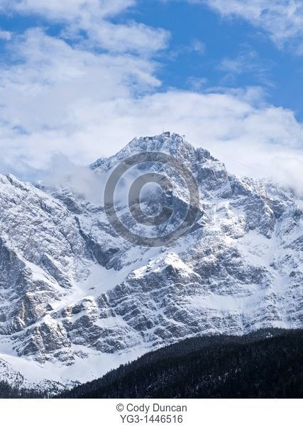 north face of Zugspitze, Germany's highest mountain