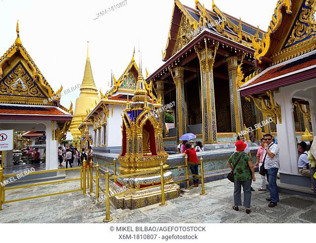 Wat Phra Kaew or Temple of the Emerald Buddha  Grand Palace  Bangkok, Thailand
