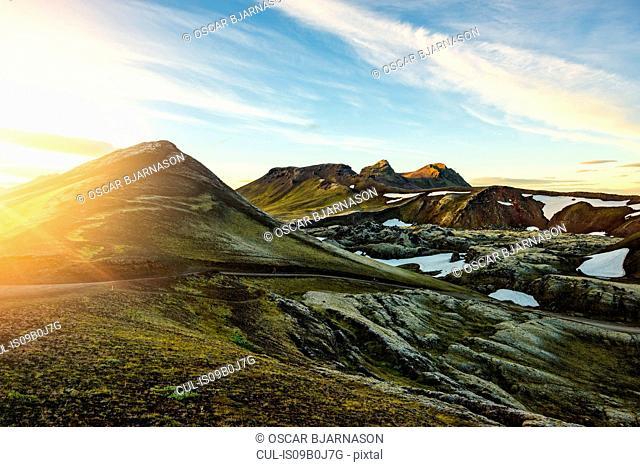 Sunset at Frostastadahals, Highlands, Iceland