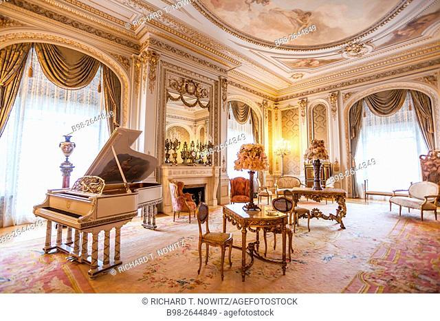 Music Room inside the d Henry Flagler Museum, Henry Flagler, one of the founders of Standard Oil