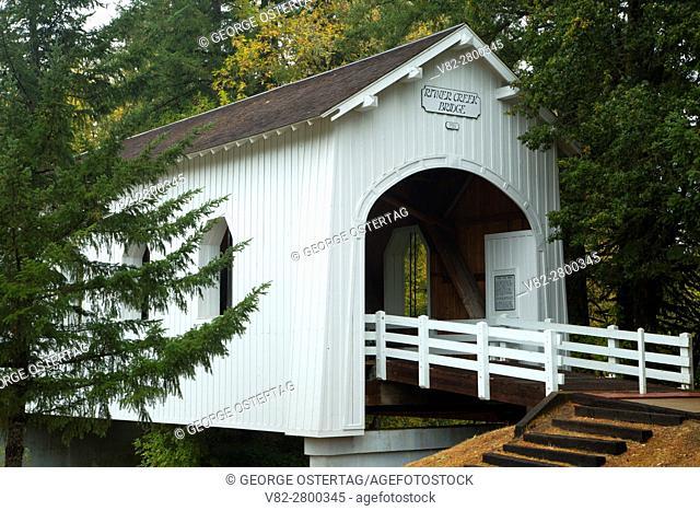 Ritner Creek Covered Bridge, Minnie Ritner Ruiter Wayside, Polk County, Oregon