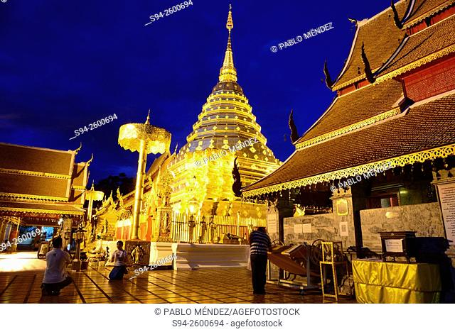 Wat Phra That Doi Suthep near Chiang Mai, Thailand