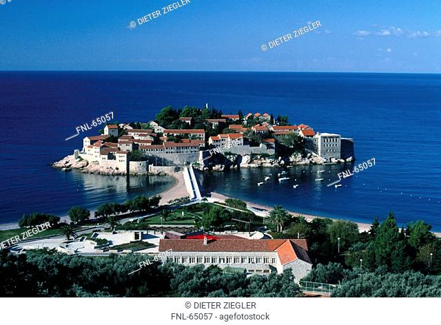 Resorts on island, Sveti Stefan, Montenegro