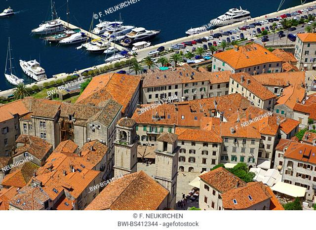 view from the fortress to the old town, Montenegro, Kotor