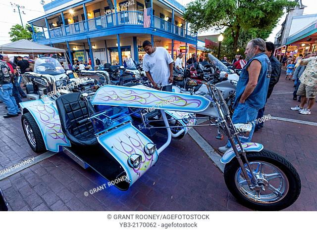 Motorcycles and Sidecars, Old Town Kissimmee, Florida, USA