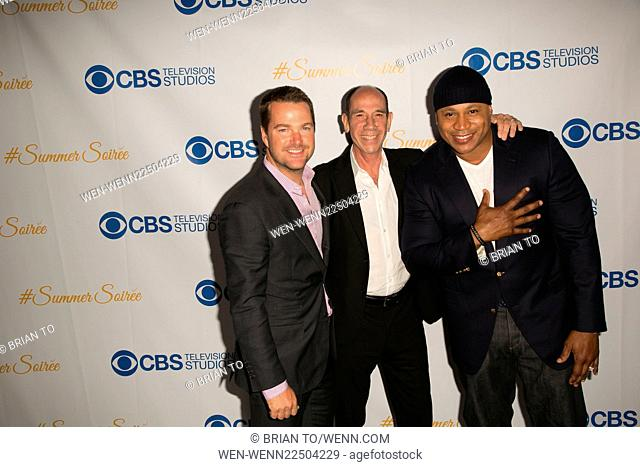 Celebrities attend the 3rd Annual CBS Television Studios Rooftop Summer Soiree at The London Hotel. Featuring: Chris O'Donnell, Miguel Ferrer
