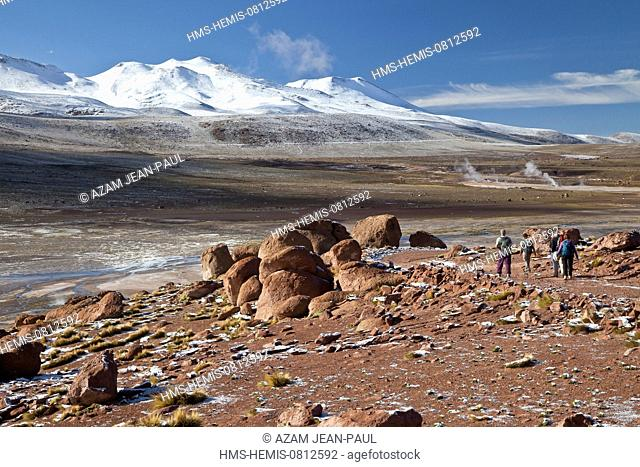 Chile, Antofagasta region, San Pedro de Atacama, El Tatio geothermal field