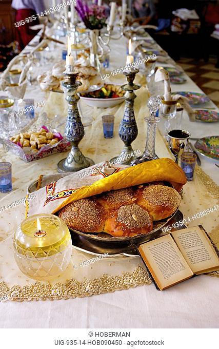Sabbath Table Setting