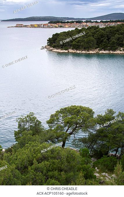 Coastline just south of Sibenik, Croatia