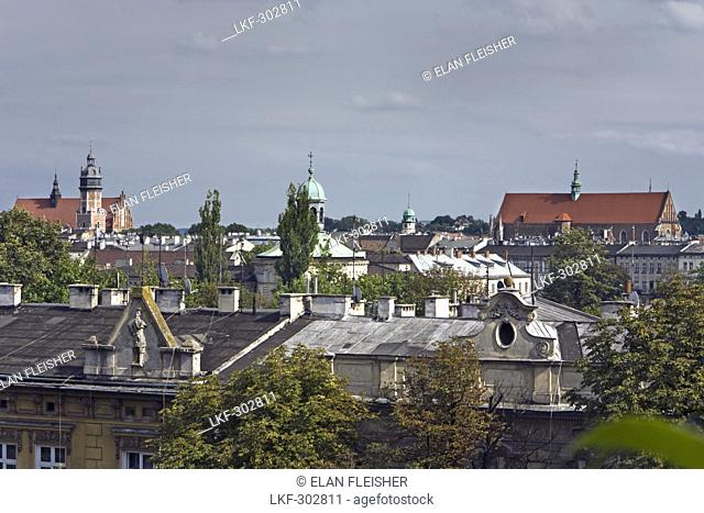 View over roofs at Wawel Royal Castle, Poland, Europe