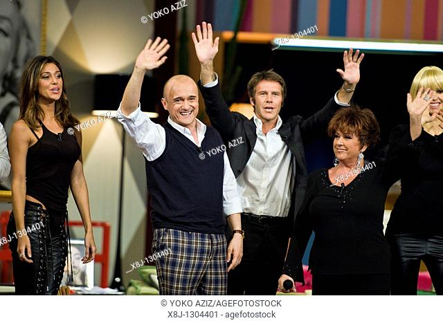 Kalispera telecast, Canale 5, Milan 2011 Alfonso Signorini with the guests