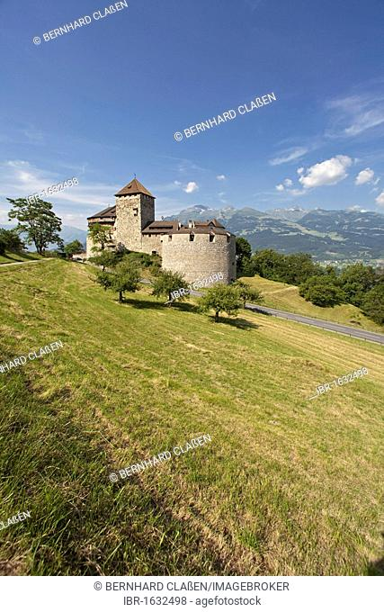 Vaduz Castle, residence of the dynasty and landmark of the capital Vaduz, Principality of Liechtenstein, Europe