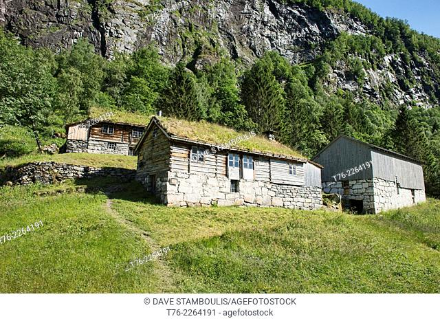 The Skagefla farm in Geirangerfjord, Norway