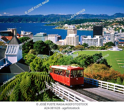 Cable car, Wellington. North Island, New Zealand