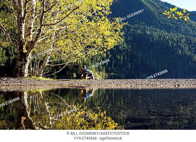 Lake Crescent - Olympic National Park - near Port Angeles, Washington USA