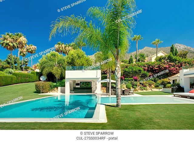 Beautiful pool in luxury property, Spain