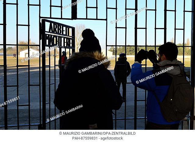 Vistors go across the grounds at the Sachsenhausen concentration camp in Oranienburg, Germany, 27 January 2017. The Day of Remembrance for the victims of...