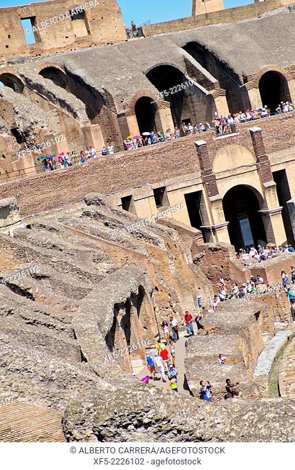 Colosseum, Coliseum, Flavian Amphitheatre, World Heritage Site, Rome, Lazio, Italy, Europe