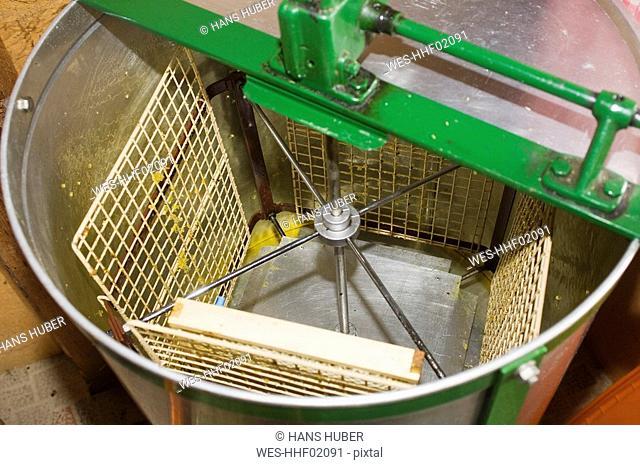 Honey extractor, close-up