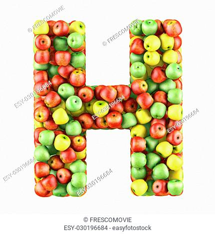 letter h made of food stock photos and images | age fotostock