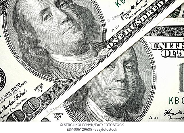 Background of two hundred dollar banknotes