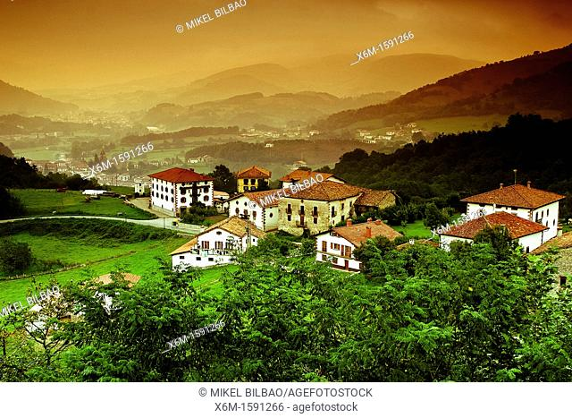 Ziga village from Baztan balcony   Baztan valley, Navarre, Spain