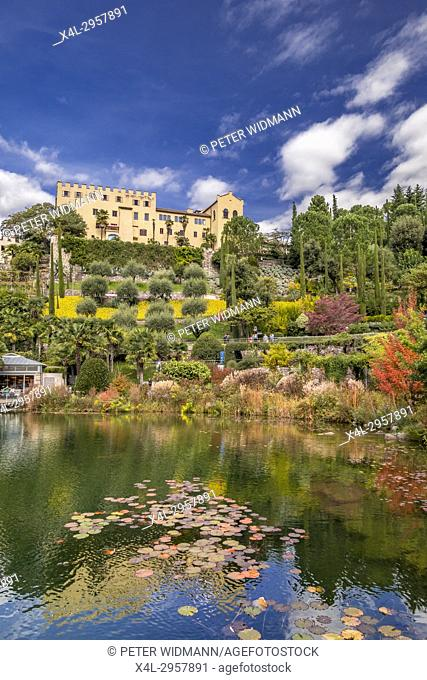 Gardens of Trauttmansdorff Castle, Merano, South Tirol, Italy, Europe
