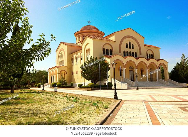 New Orthodox church of Omala  Kefalonia, Ionian Islands, Greece