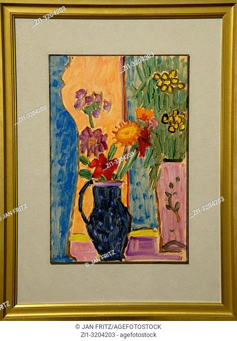 'still life with flowers' from Alexej von Jawlensky, GEM, Gemeentelijk Museum Den Haag, Netherlands
