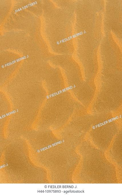 Asia, United Arab Emirates, UAE, Abu Dhabi, Mezaira'a, Mezaira, Liwa, desert sand, sand pattern, detail, sand, pattern, structures, desert