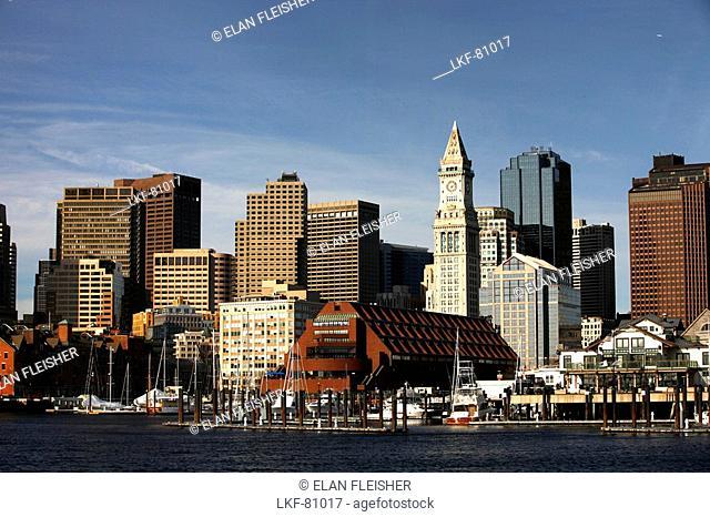 View of Boston Harbor, Boston, Massachusetts, USA