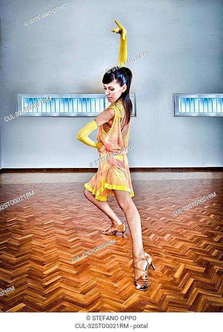 Woman dancing in high heels
