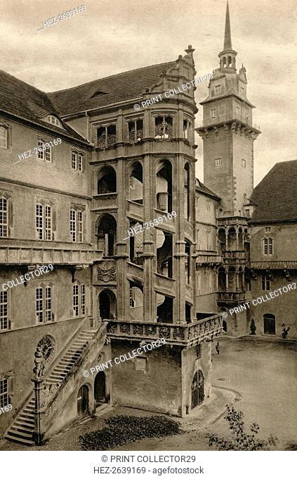 'Torgau - Hartenfels Castle courtyard', 1931. Artist: Kurt Hielscher