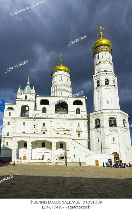 The Ivan the Great Belfrey The Kremlin Moscow Russian Moskva city National capital of Russia. The Moscow Kremlin (Russian: МоÑ. ковÑ. кий КÑ