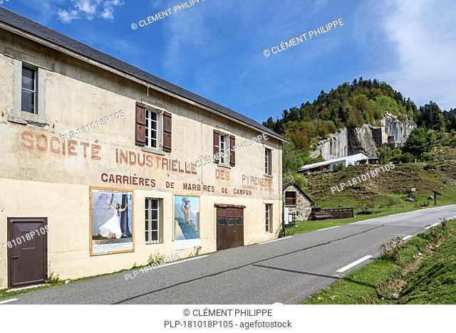 Société Industrielle des Pyrénées / Carrières de Marbres de Campan, marble quarry at Payolle, Haute-Bigorre, Hautes-Pyrénées, France