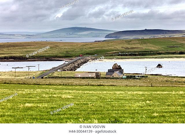 Sea coast, Mainland, Orkney islands, Scotland, UK