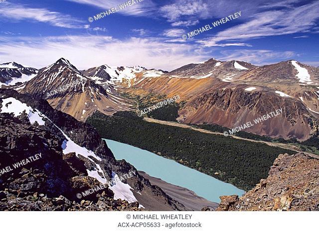 Lorna Lake from Trail Ridge, Big Creek Provincial Park, British Columbia, Canada
