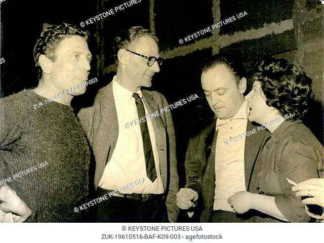 May 16, 1961 - The ex husband of Marilyn Monroe, Arthur Miller arrives in Paris to supervise the shooting of a movie. (Credit Image: © Keystone Press...